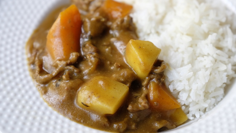 Easy beef curry