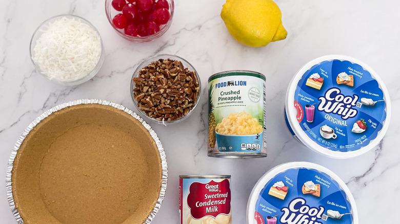 ingredients for Easy Million Dollar Pie