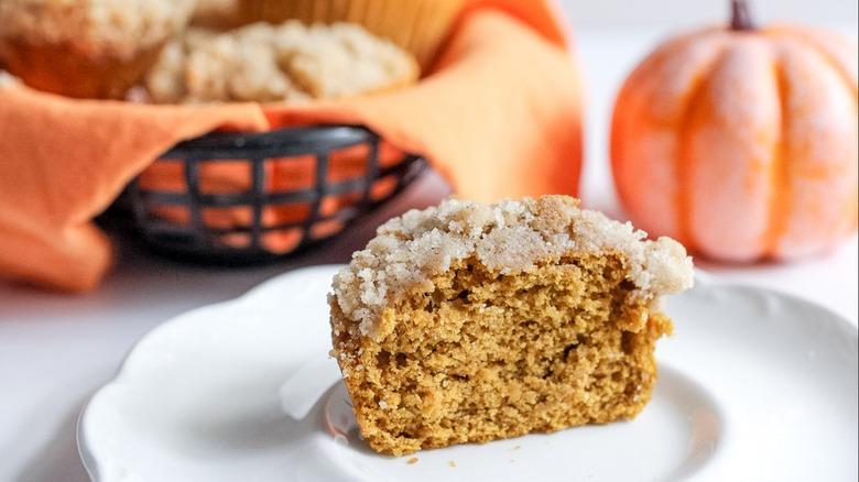 pumpkin muffin on plate