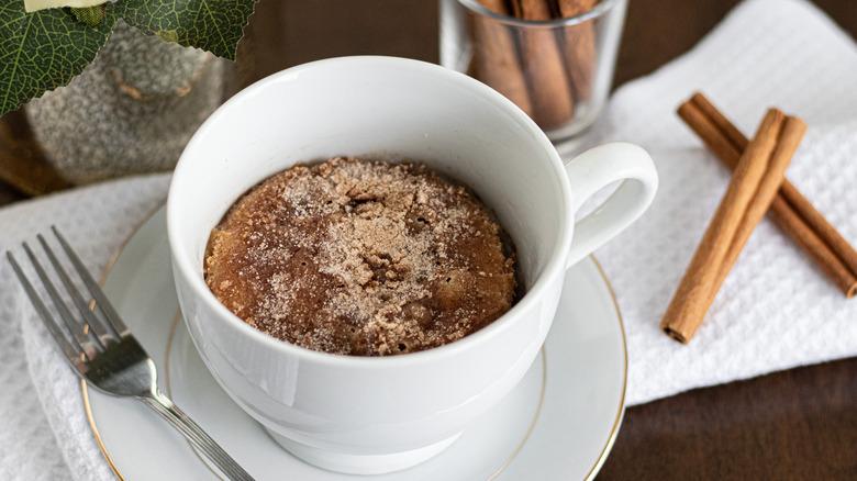 snickerdoodle mug cake