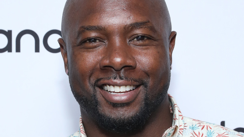 Eddie Jackson at a step and repeat
