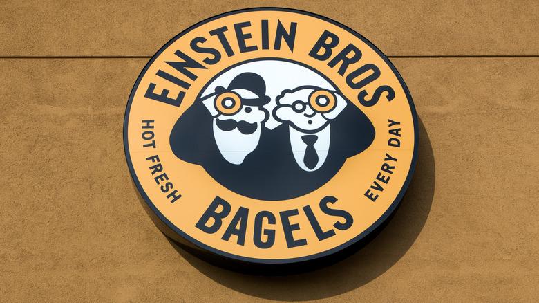 Einstein Bros. Bagel logo sign