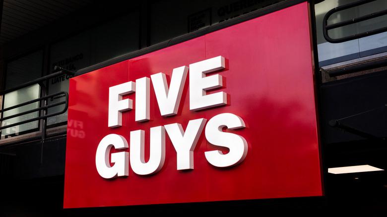 Five Guys sign