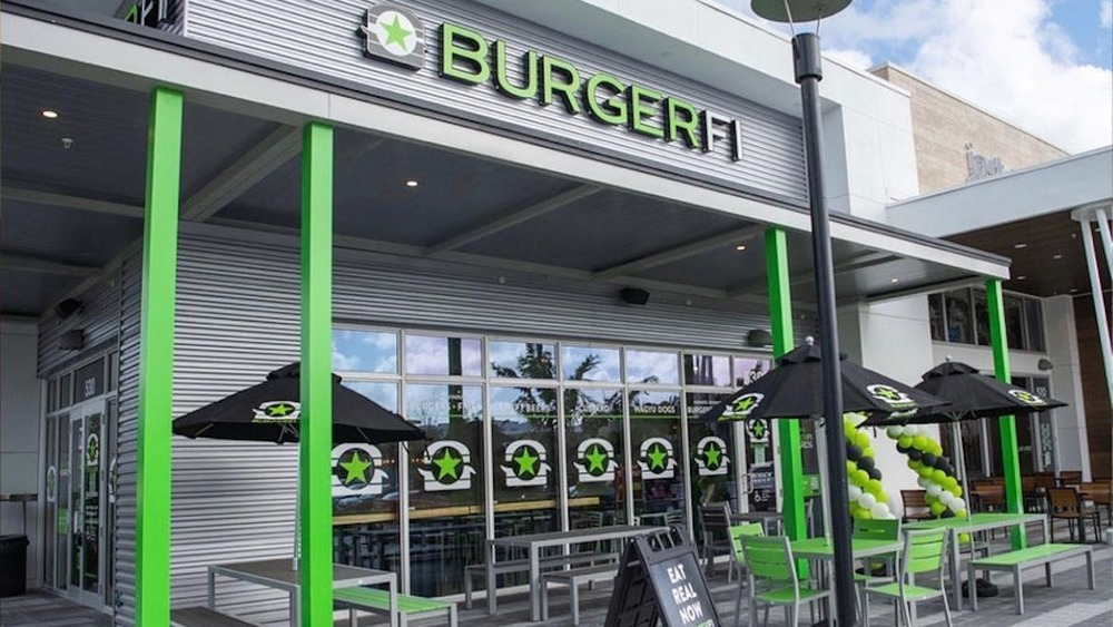 Exterior of BurgerFi restaurant