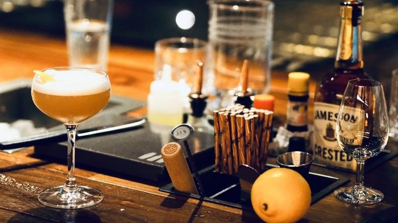 at home bar set up martini