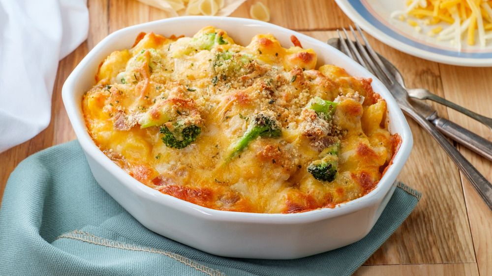 casserole with cheese and pasta