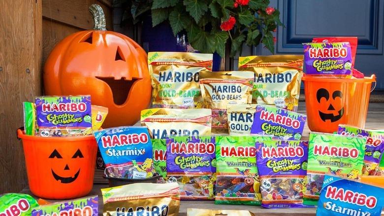 Haribo Halloween candy with jack-o-lanterns