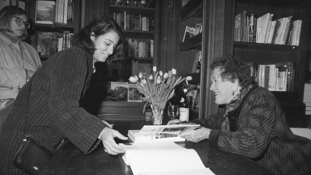 Julia Child signing books