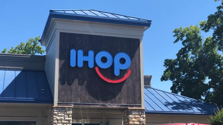 IHOP sign on building