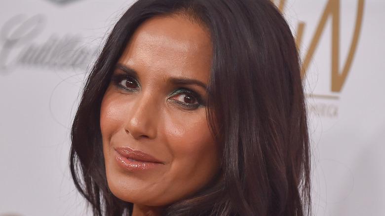 close-up of Padma Lakshmi, face
