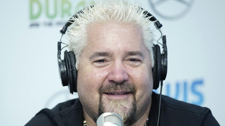 Guy Fieri with headphones