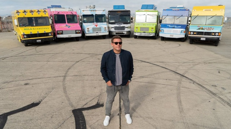 Tyler Florence with food trucks