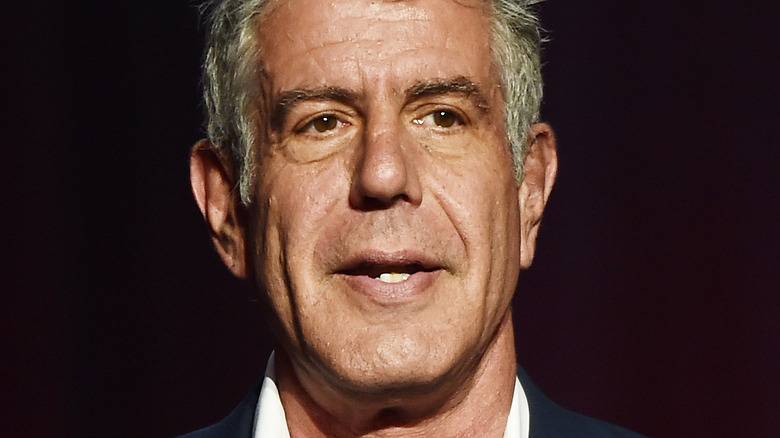Anthony Bourdain at speaking event