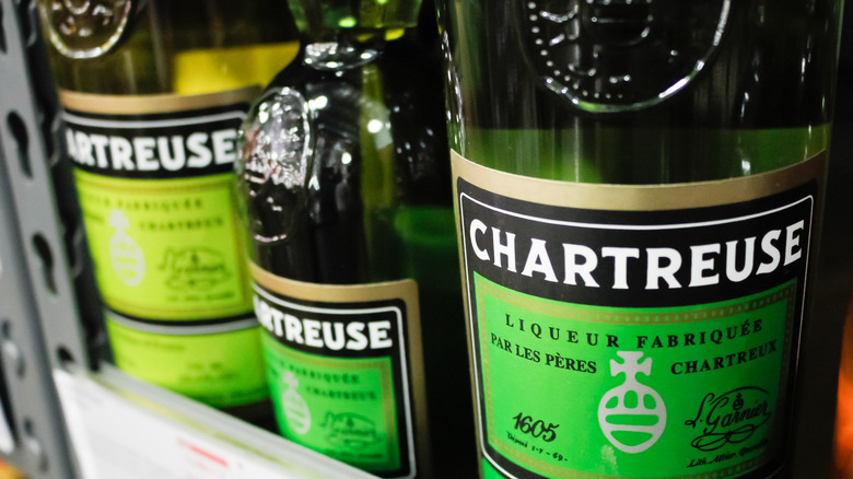 Bottles of yellow and green Chartreuse