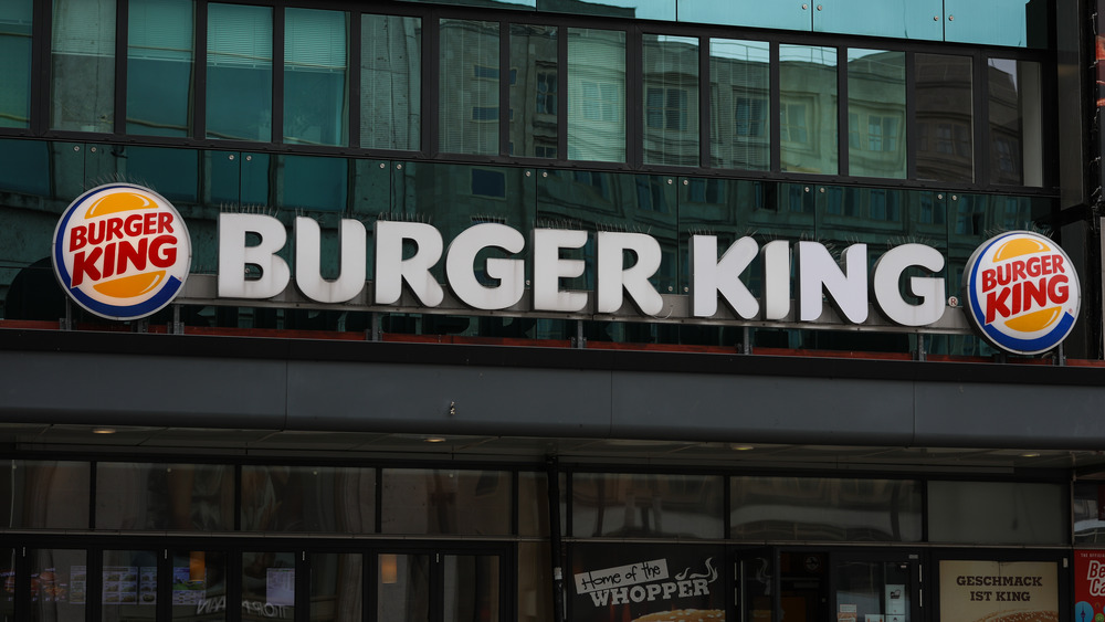 Burger King sign on outside of building