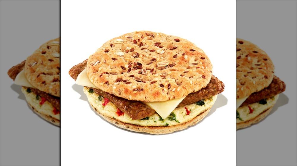 Dunkin' Donuts Southwest Veggie Power Breakfast Sandwich