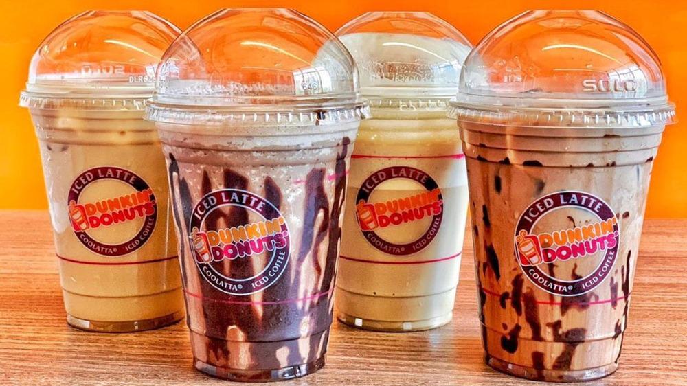 Dunkin' iced lattes