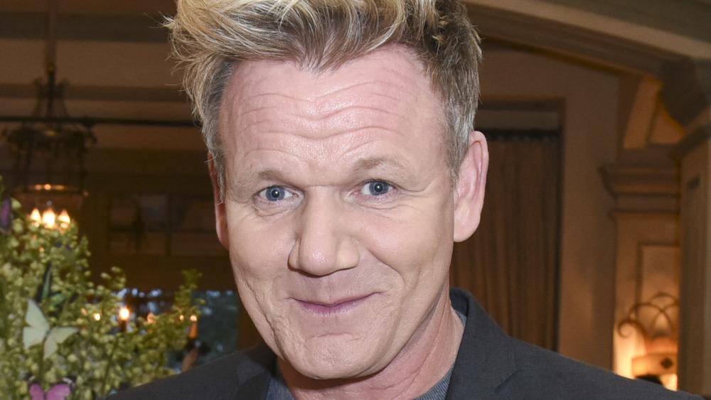 Gordon Ramsay impish smirk