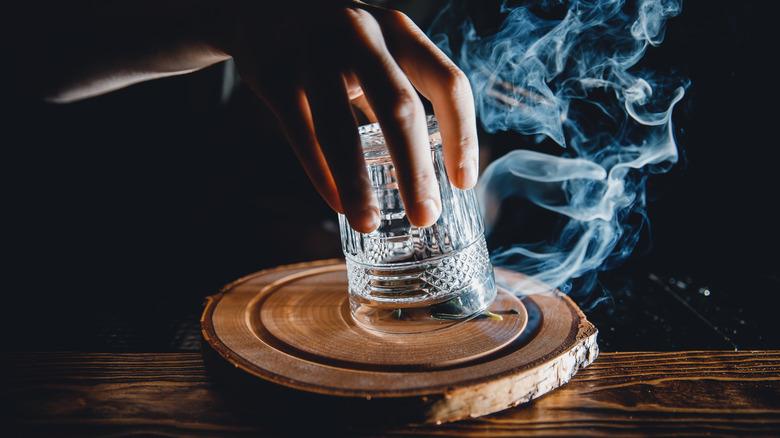 Smoked cocktail glass