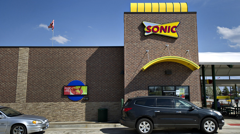 Cars at Sonic take-out window