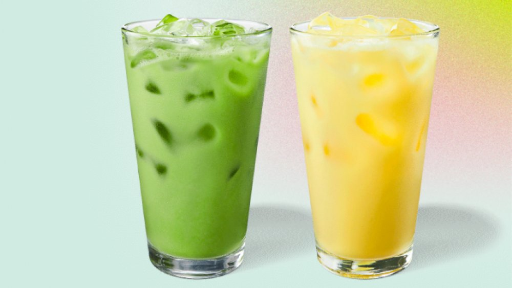 Two of Starbucks' new spring drinks