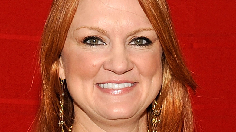 Ree Drummond against red background