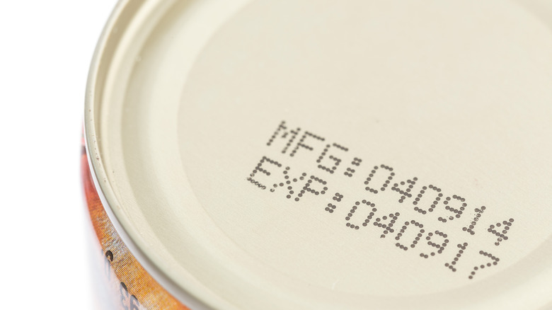 Expiration date on food