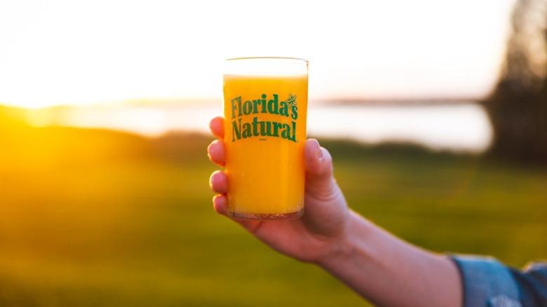 glass of Florida's Natural orange juice