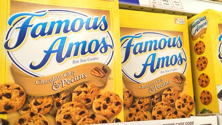 boxes of Famous Amos cookies