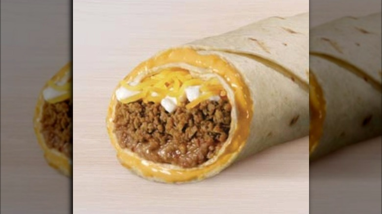 Beefy 5-Layer Burrito from Taco Bell on counter