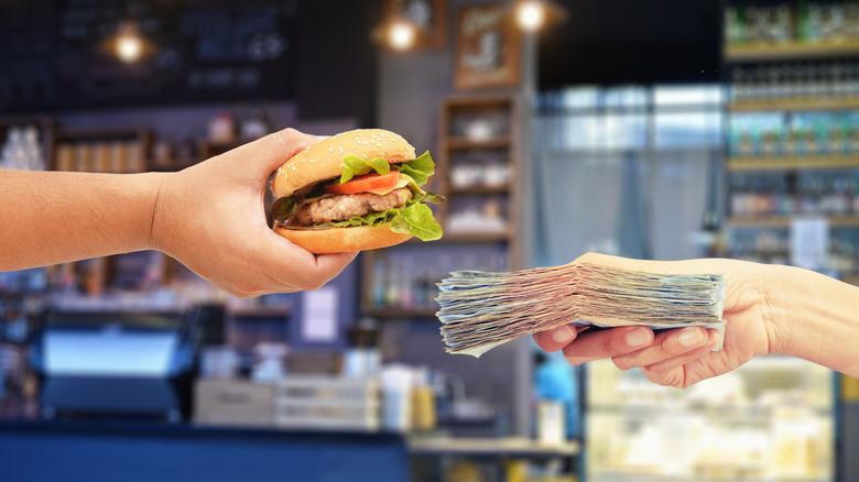 Buying a burger