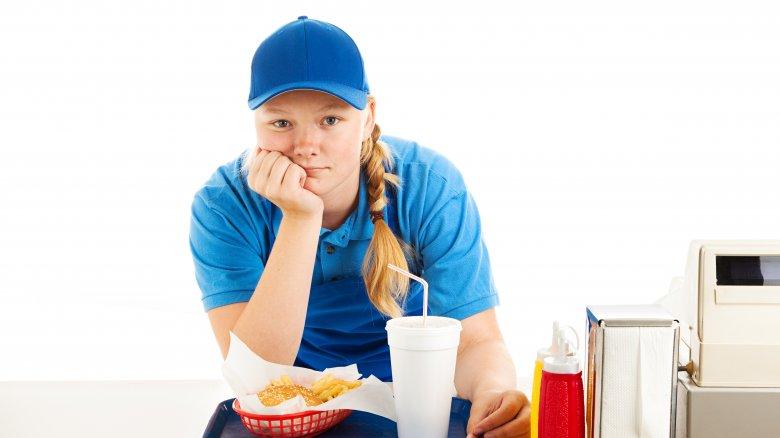 Disgruntled fast food worker