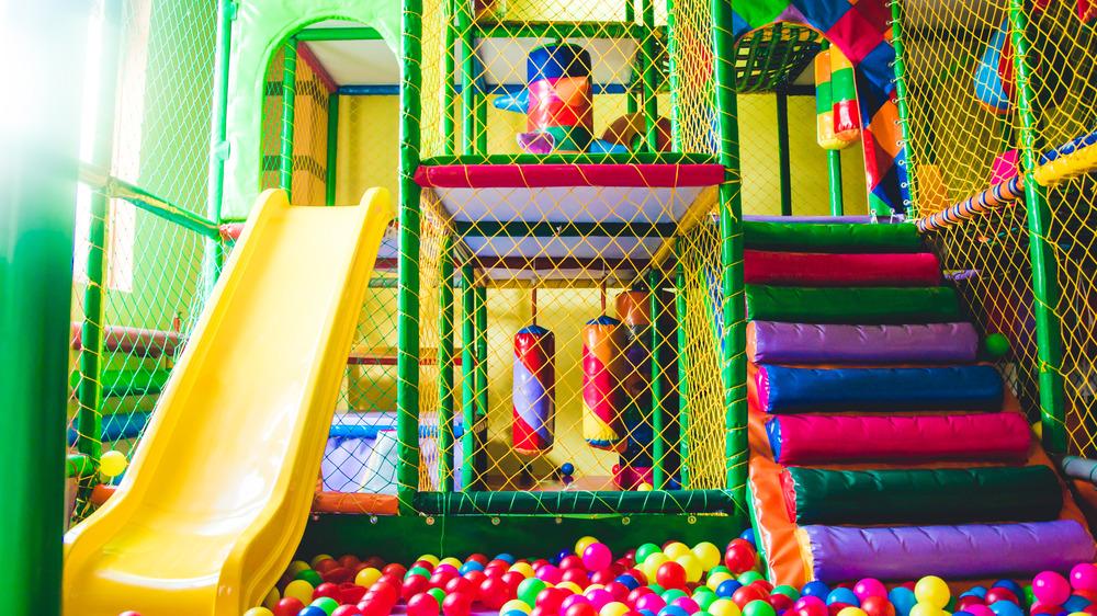 Bright indoor playground