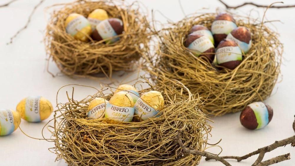 Ferrero Eggs in nests