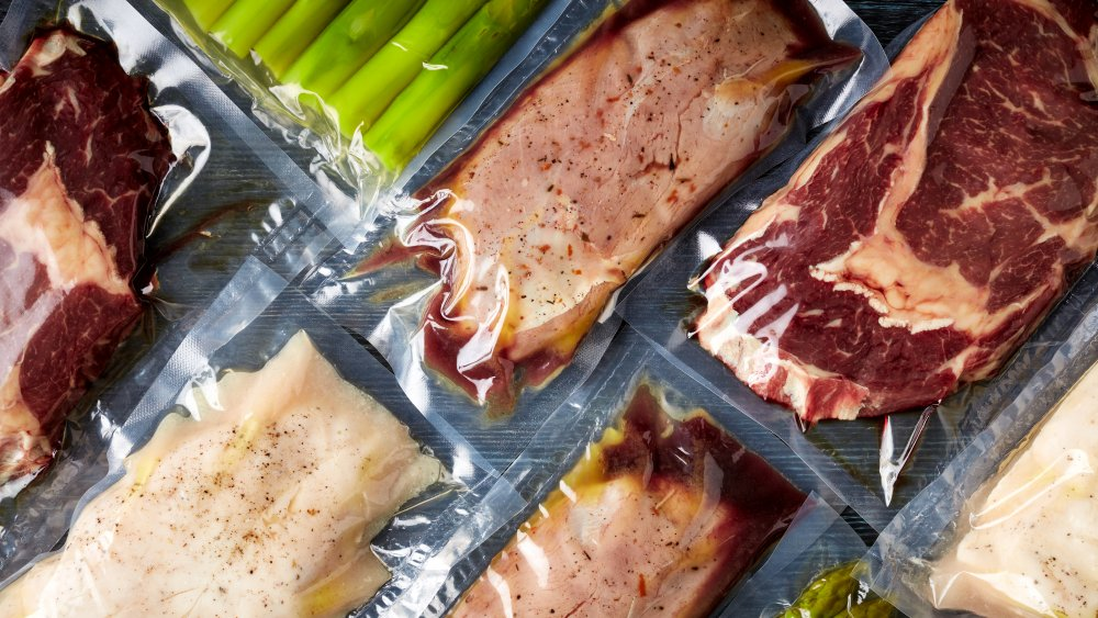 foods in plastic bags to sous vide