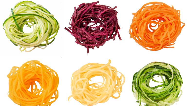 Spiraled vegetable noodles