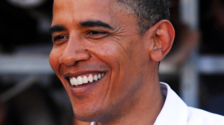 Barack Obama smiling at event