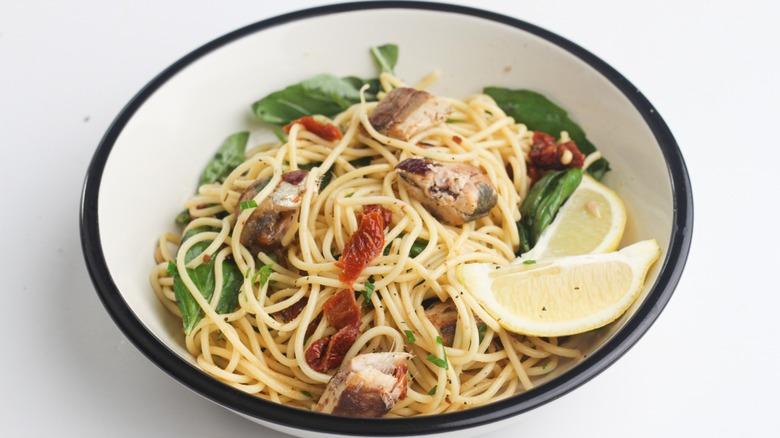 Bowl of Sardine Pasta