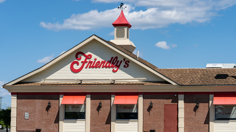 Friendly's building and blue sky