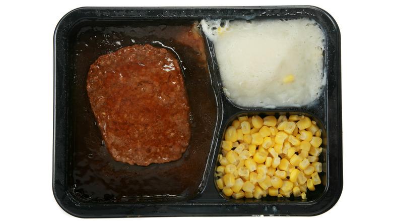 Frozen Salisbury steak meal
