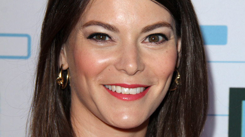 Gail Simmons with lipstick on