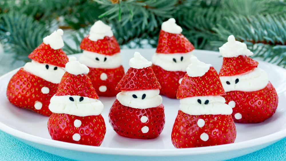 Strawberry Santa Clauses