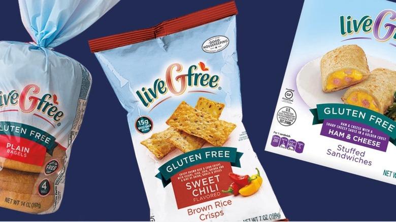 three Aldi liveGFree gluten-free options