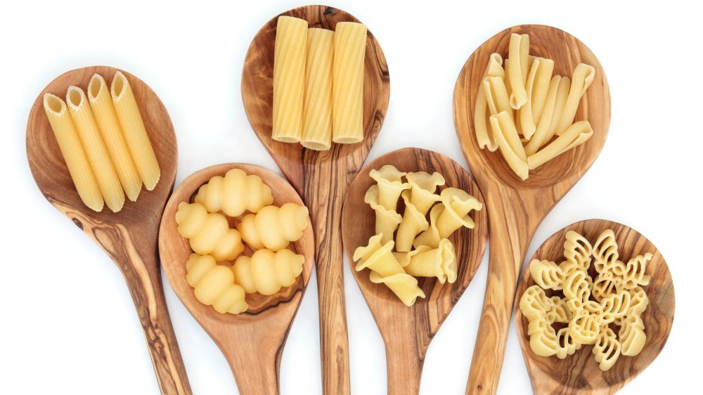 Different kinds of pasta including gnocchi