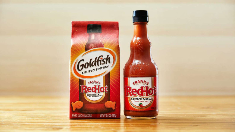 Goldish Frank's RedHot crackers