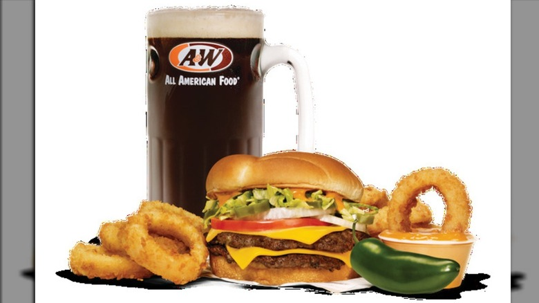 A&W Spicy Papa meal