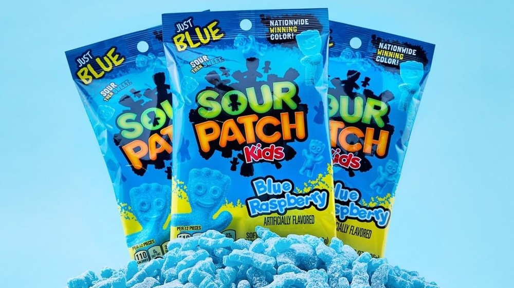 Bags of Blue Raspberry Sour Patch Kids