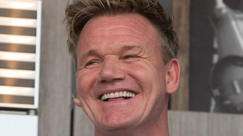 Gordon Ramsay smiling wide