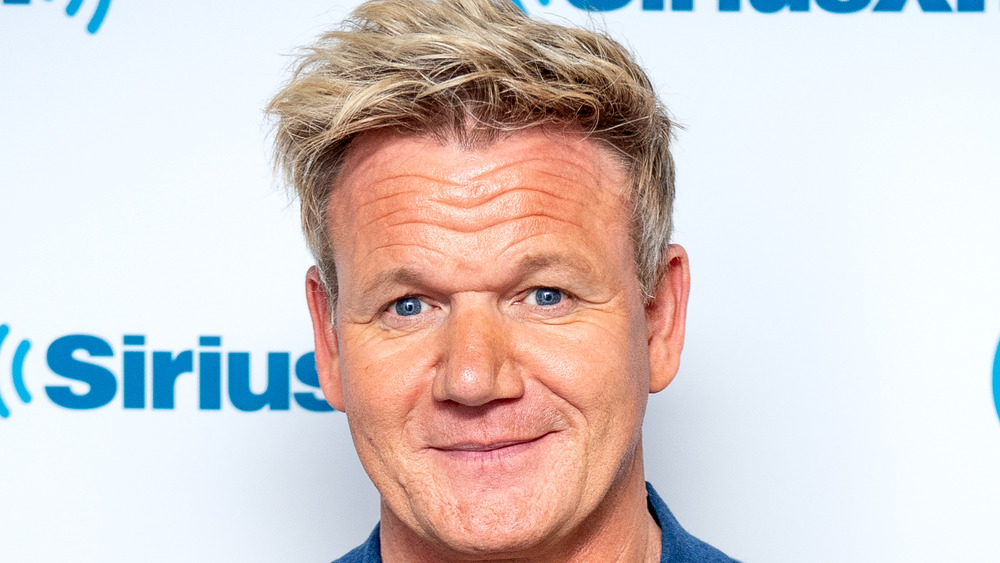 Gordon Ramsay slightly smiling