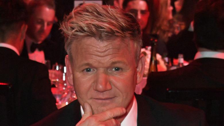 Gordon Ramsay cupping chin